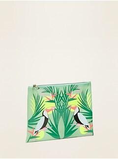 Printed Plastic Bikini Bag for Women