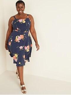 Fit & Flare Plus-Size Cami Dress