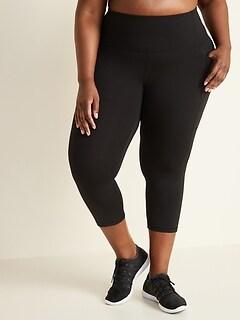 High-Waisted Elevate Side-Pocket Plus-Size Crop Leggings