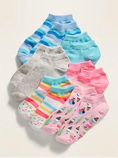 Chaussettes tendance pour fille (paquet de 6paires)