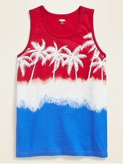 Printed Tank Top for Boys