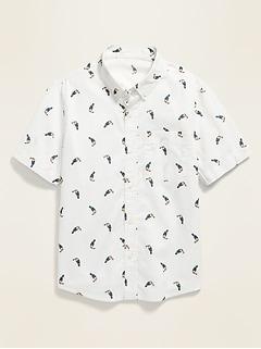 Printed Built-In Flex Short-Sleeve Shirt for Boys