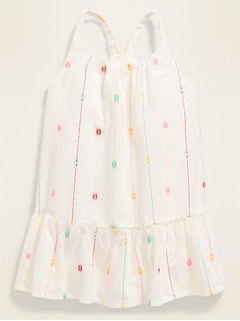 Sleeveless Tiered Clip-Dot Dress for Baby