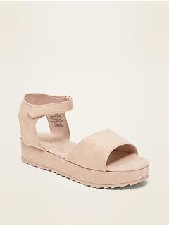 Sandales en faux suède à talon plat pour fille