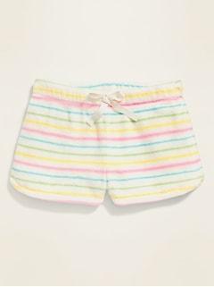 Short de pyjama en sherpa à imprimé pour fille
