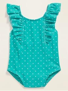 Ruffle-Strap Swimsuit for Toddler Girls