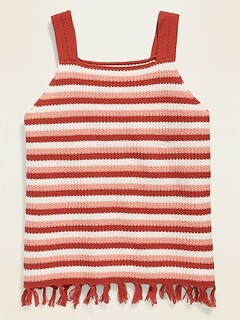 Sleeveless Crochet-Knit Top for Girls