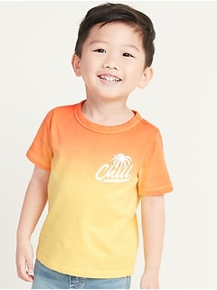 Dip-Dyed Graphic Tee for Toddler Boys