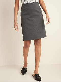 Ponte-Knit Pencil Skirt for Women
