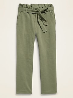 Pull-On Cropped Pants for Girls