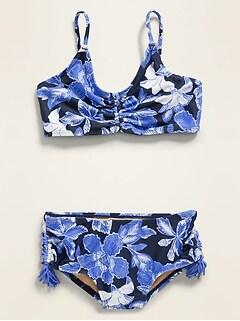 Bikini ruché pour fille