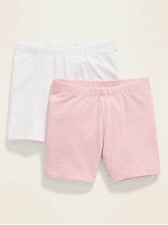 Jersey Bike Shorts 2-Pack for Toddler Girls