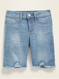 Ballerina Distressed Cut-Off Jean Shorts for Girls
