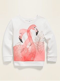 Relaxed Graphic Pullover Sweatshirt for Toddler Girls