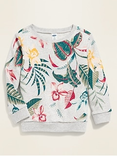 Floral-Print French Terry Sweatshirt for Toddler Girls