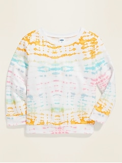Tie-Dyed French Terry Sweatshirt for Toddler Girls