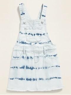 Tie-Dyed Jean Skirtall for Toddler Girls