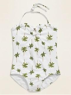 Printed Halter Swimsuit for Girls
