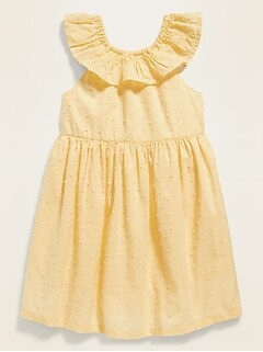 Swiss Dot Bow-Back Fit & Flare Sundress for Toddler Girls