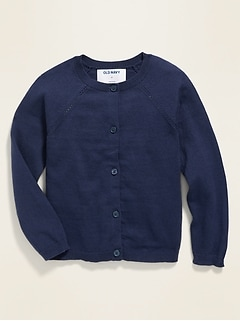 Raglan-Sleeve Cardigan for Toddler Girls