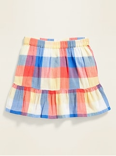 Tiered Printed Skirt for Toddler Girls