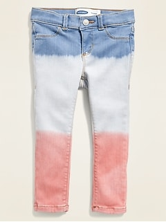 Ballerina Americana Dip-Dye Built-In Tough Jeggings for Toddler Girls