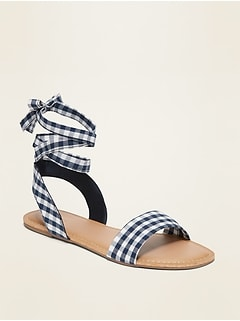 Lace-Up Ankle-Tie Sandals for Women