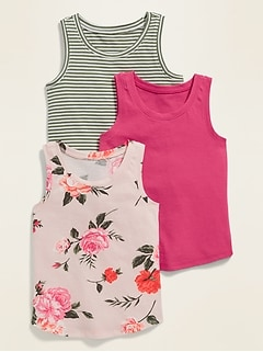 Jersey Tank Top 3-Pack for Toddler Girls