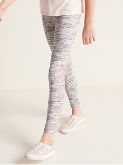 Printed Built-In Tough Full-Length Leggings for Girls