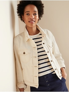 Cropped Off-White Jean Jacket for Women