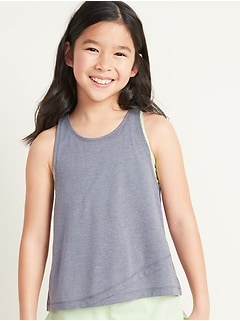 Go-Dry 2-in-1 Sports Bra Tank Top for Girls