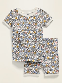 Ditsy Floral-Print Pajama Set for Toddler Girls & Baby