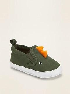 Chaussures à enfiler à motif de dinosaure pour bébé