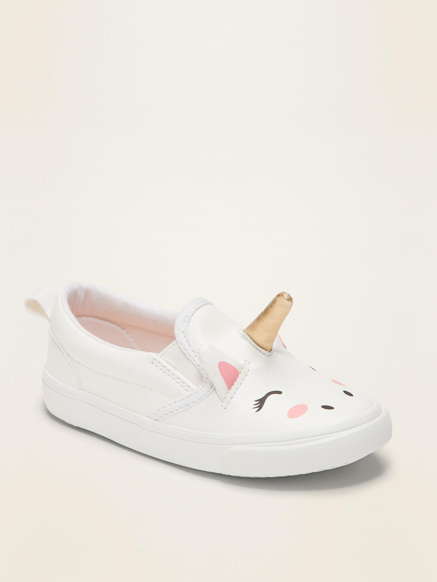 Unicorn Slip-Ons For Toddler Girls