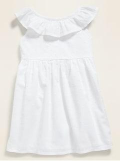 Ruffle-Trim Swiss Dot Dress for Baby