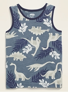 Printed Tank Top for Toddler Boys
