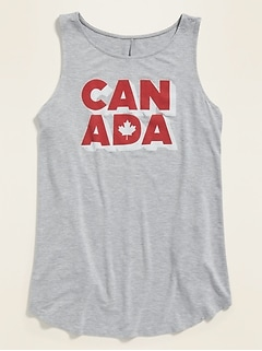 Luxe Canada Graphic Tank Top for Women