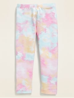 Patterned Full-Length Leggings for Toddler Girls