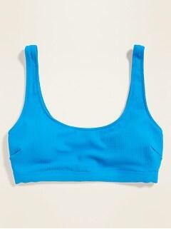Haut de maillot de bain à encolure échancrée pour femme
