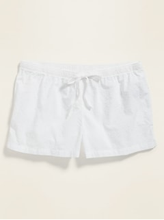 Poplin Swiss-Dot Pajama Boxer Shorts for Women -- 2.5-inch inseam