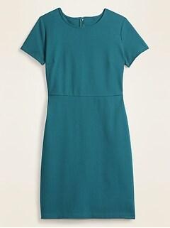 Ponte-Knit Knee-Length Sheath Dress for Women
