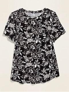 T-shirt ras du cou luxueux à pois pour femme