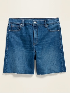 High-Waisted Relaxed Cut-Off Jean Shorts for Women -- 7-inch inseam