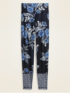 High-Waisted Elevate 7/8-Length Floral-Print Leggings for Women