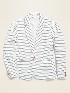 Pinstriped Ponte-Knit Blazer for Women