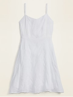 Eyelet Cami Fit & Flare Dress for Women