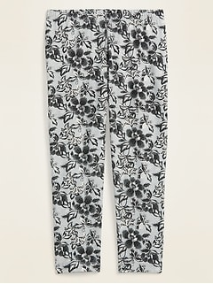 Mid-Rise Cropped Printed Leggings for Women