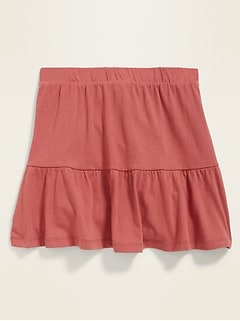 Tiered Jersey Skort for Girls