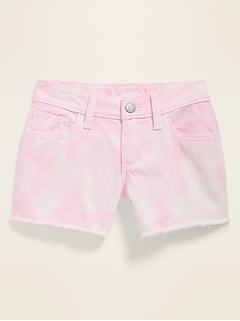 Tie-Dye Cut-Off Twill Shorts for Girls
