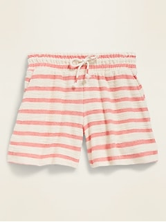 Loop-Terry Midi Shorts for Girls